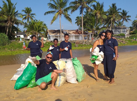 Successful first Sri Lankan beach cleaning!