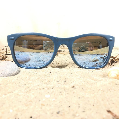 100% recycled fishing nets with UV400 POLARIZED lenses with mirror effect