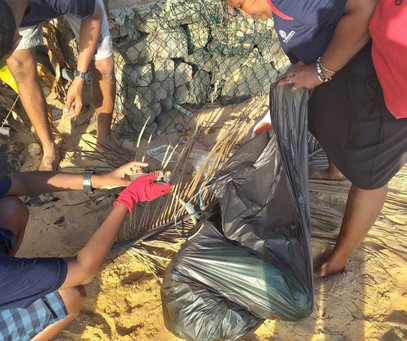 Our super crew working hard cleaning beaches in Sri Lanka.