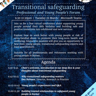 TRANSITIONAL SAFEGUARDING EVENT- PROFESSIONAL AND YOUNG PEOPLE'S FORUM