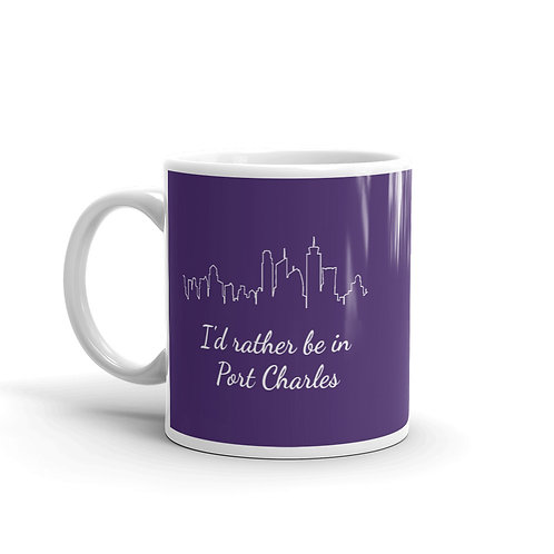 I'd Rather Be In Port Charles Mug - Purple