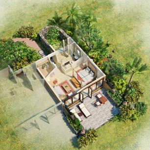 3D планы павильонов и вилл The Oberoi Mauritius, Маврикий