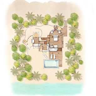 Семейная вилла с двумя спальнями и бассейном в Six Senses Laamu на Мальдивах