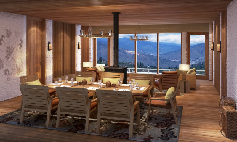 Thimphu_2&3_Bedroom_Villa_Living_Dining_