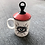 Thumbnail: All Seeing Eye Ceramic Tea Mug Hand Lid Decor