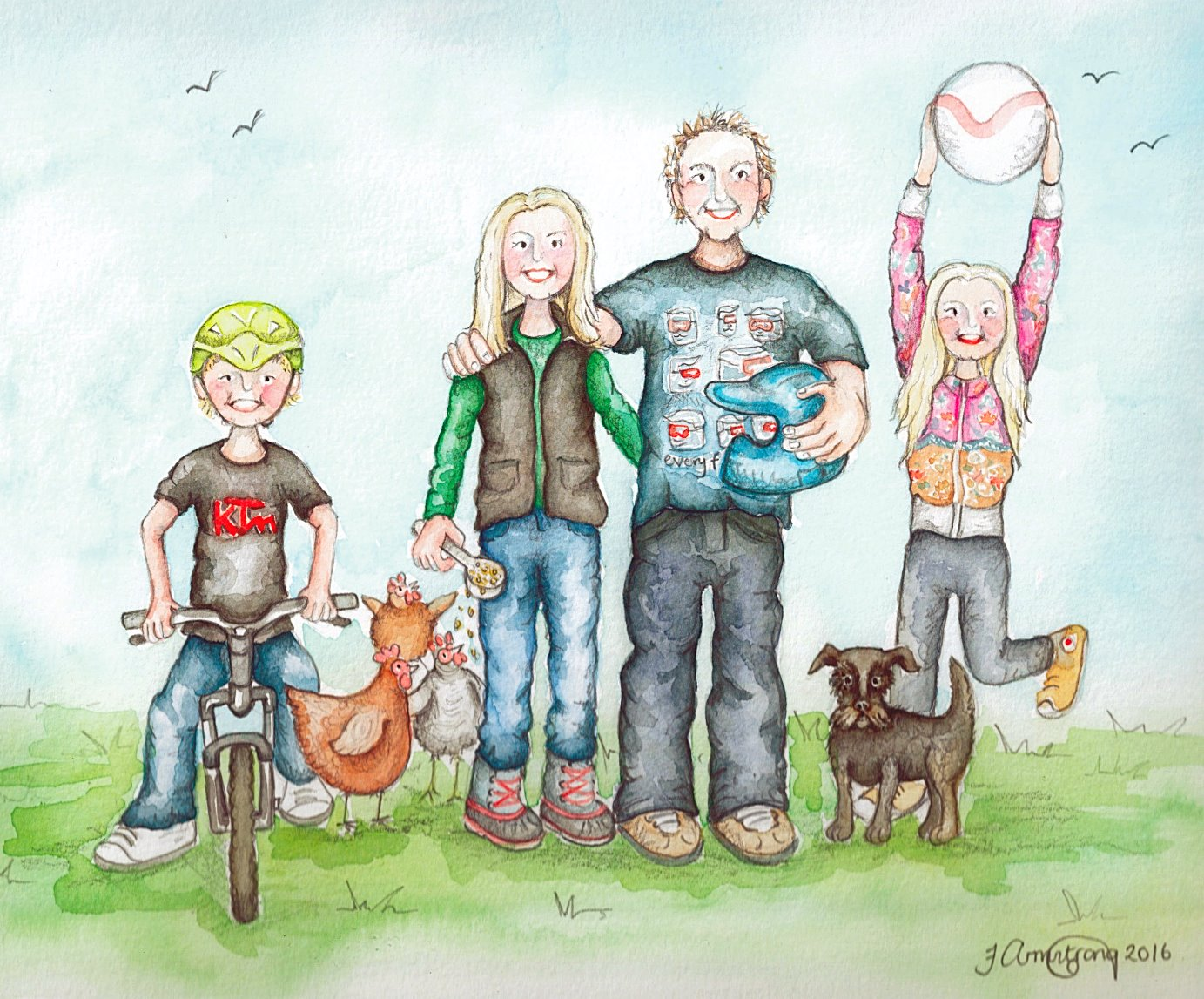 Bespoke Family Illustration