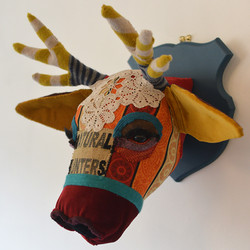 Textile Stags head
