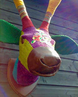Textile Stags Head Sculpture