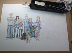 working on big family portrait