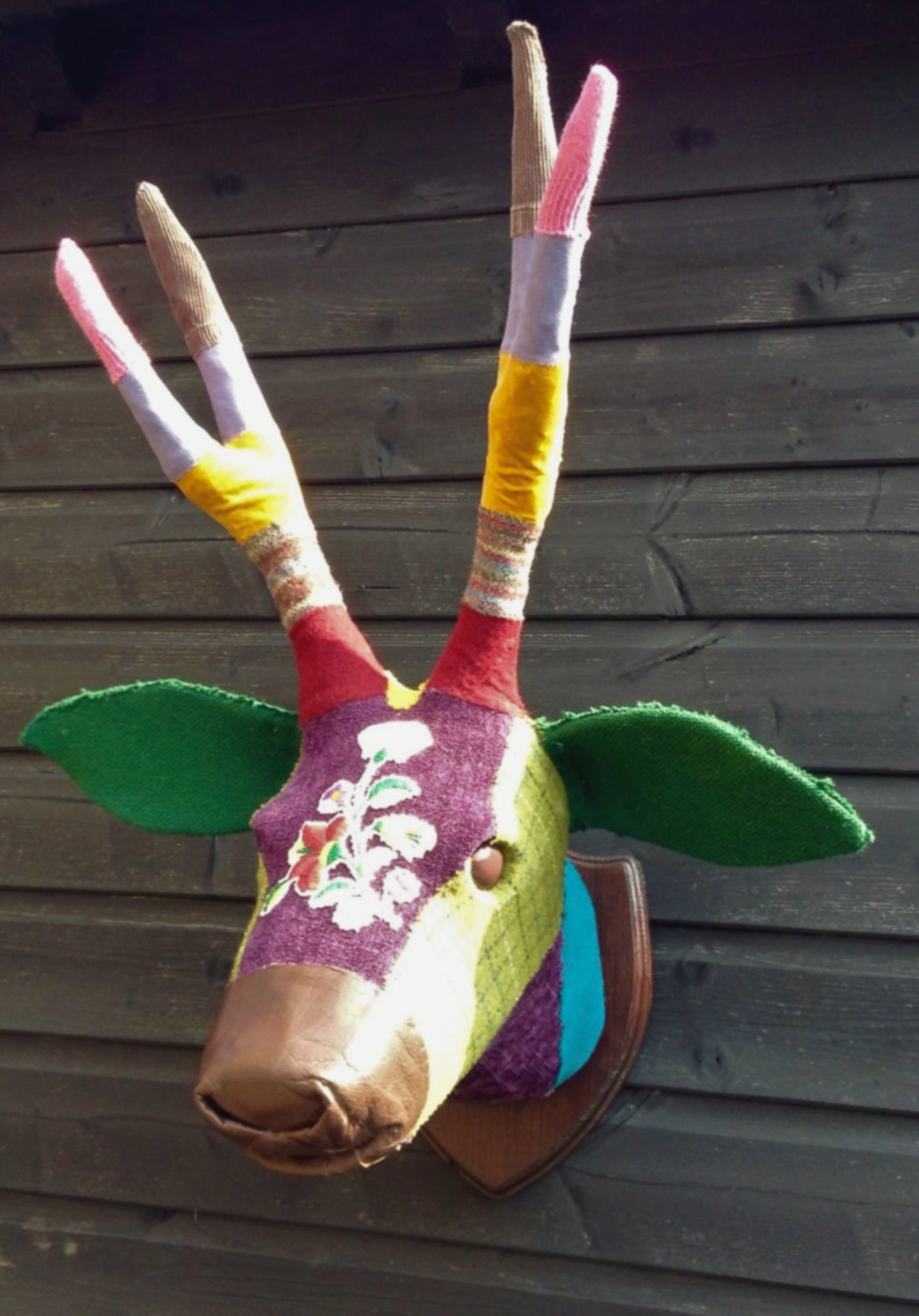 Textile Faux Stag Sculpture
