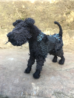 Miniature Schnauzer Textile Sculpture co