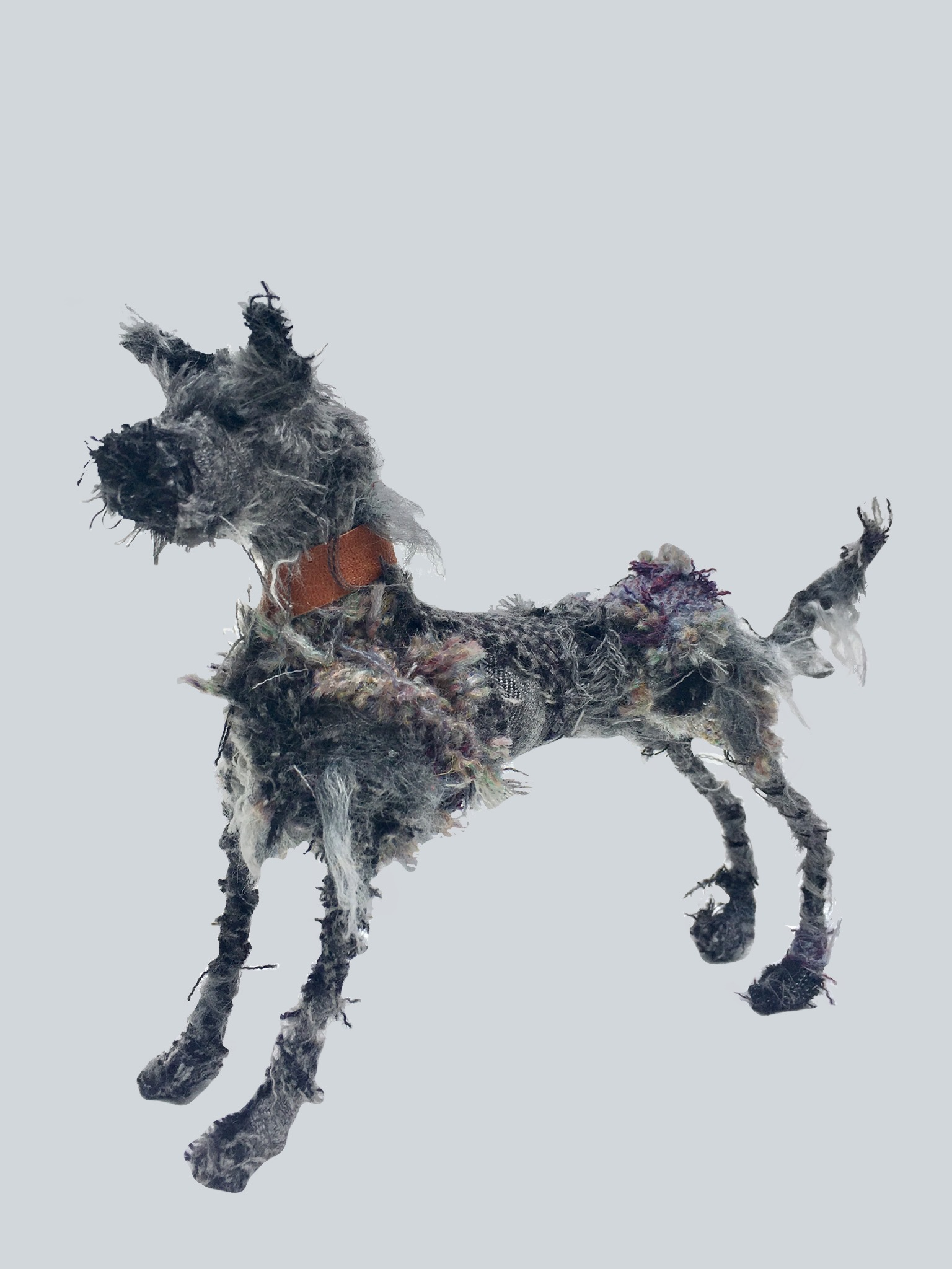 Lurcher textile sculpture