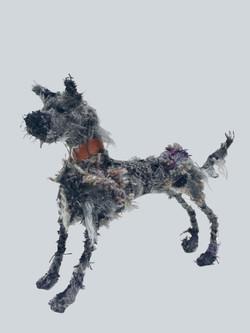 Lurcher textile sculpture