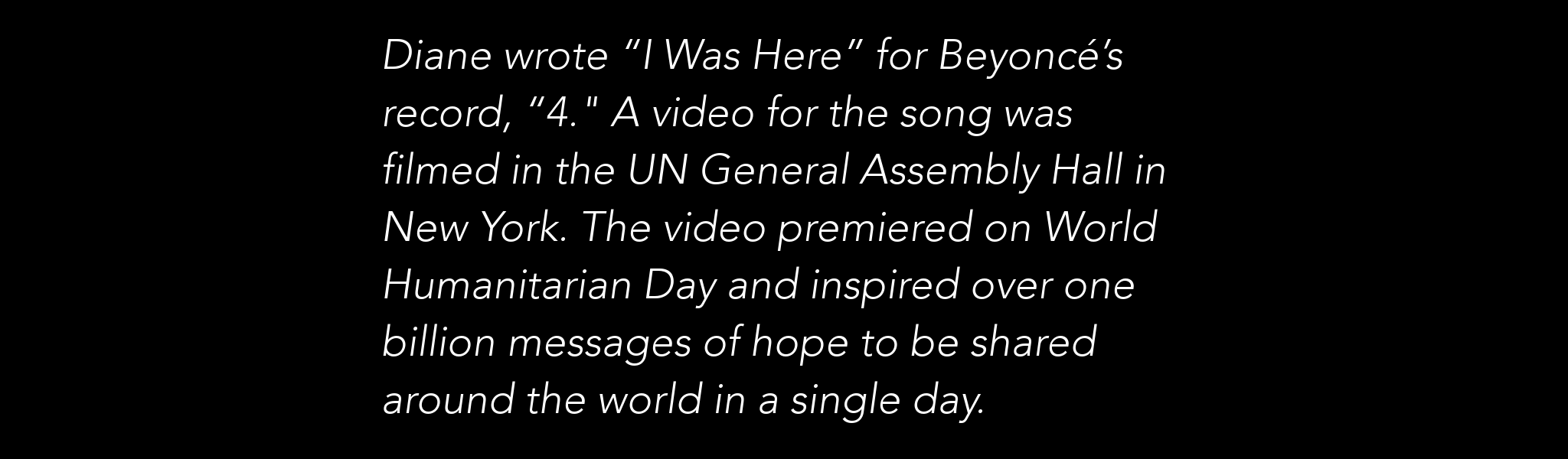 Beyonce I Was Here Fact Slider 1.1