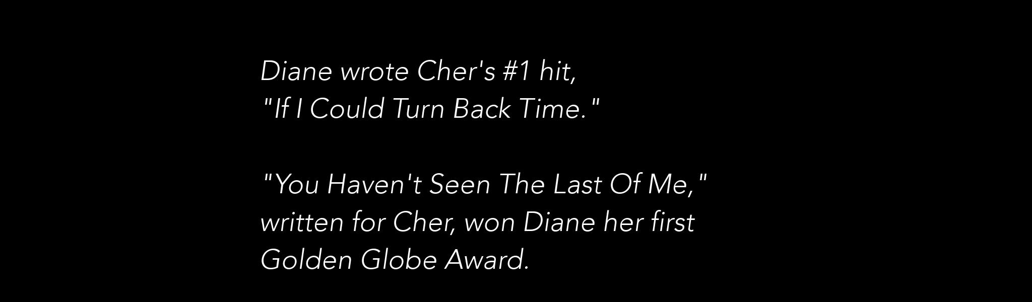 Cher Songs Slider