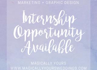 Marketing + Graphic Design Internship Available