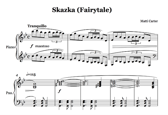 Skazka (Fairytale) Sheet Music