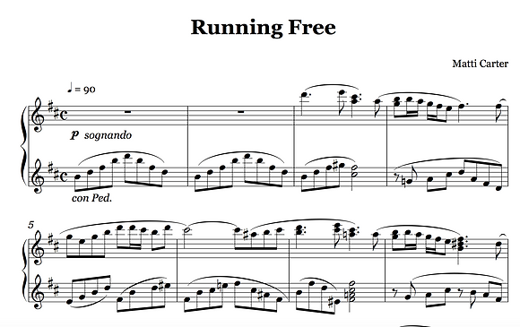 Running Free Sheet Music