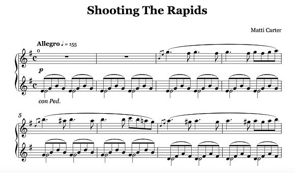 Shooting The Rapids Sheet Music