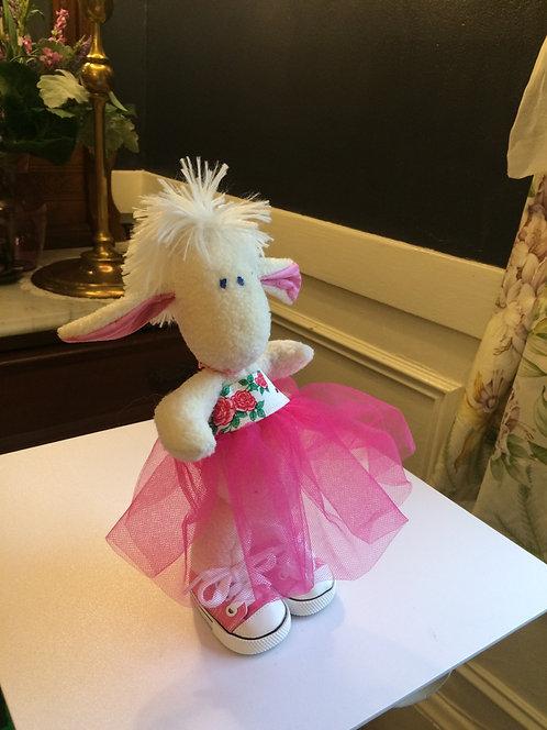 Bunny in pink tutu