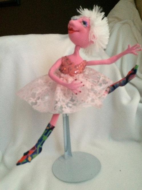 Pink Sequined Ballerina