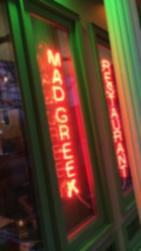 greek restaurant, neon sign