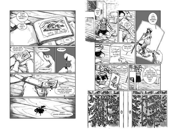 Scene 5 Pages 21&22 Spread (2020)