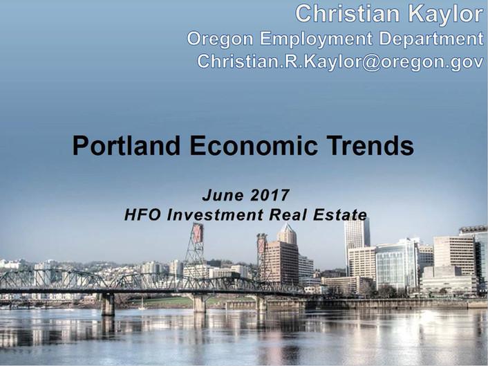 Portland Economic Trends