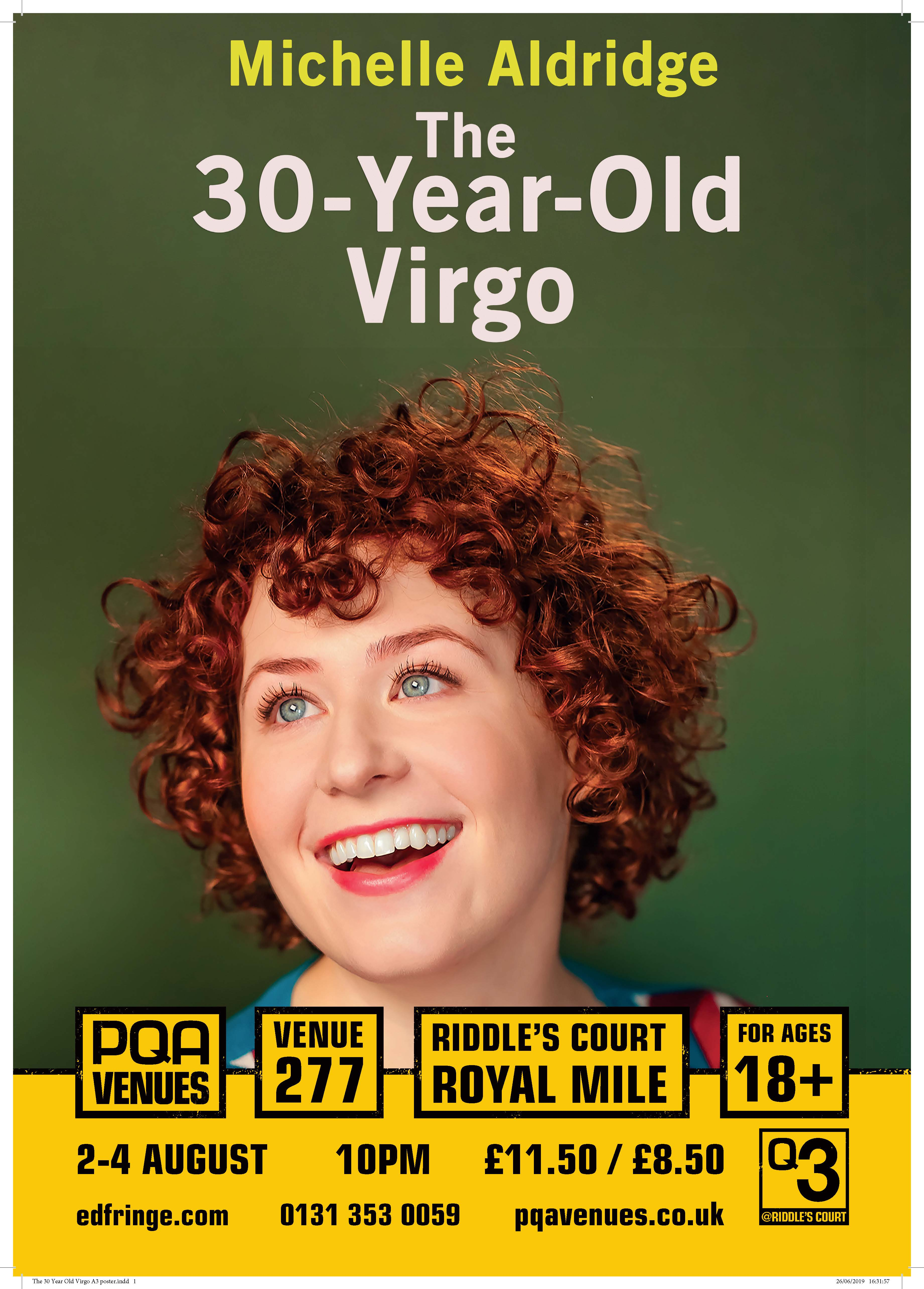 The 30 Year Old Virgo A3 poster