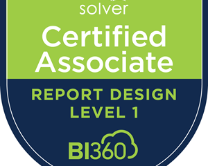 Solver BI360 Certification – Affirmation and Validation