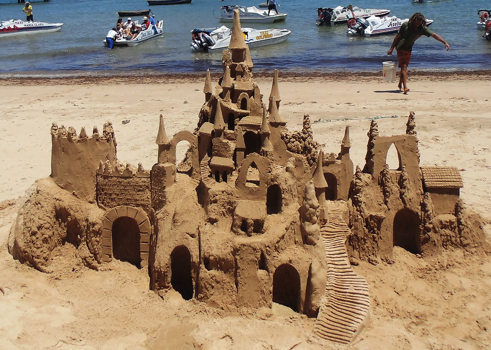 A giant sandcastle