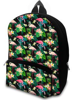 Mochila em Neoprene Flamingos Mini