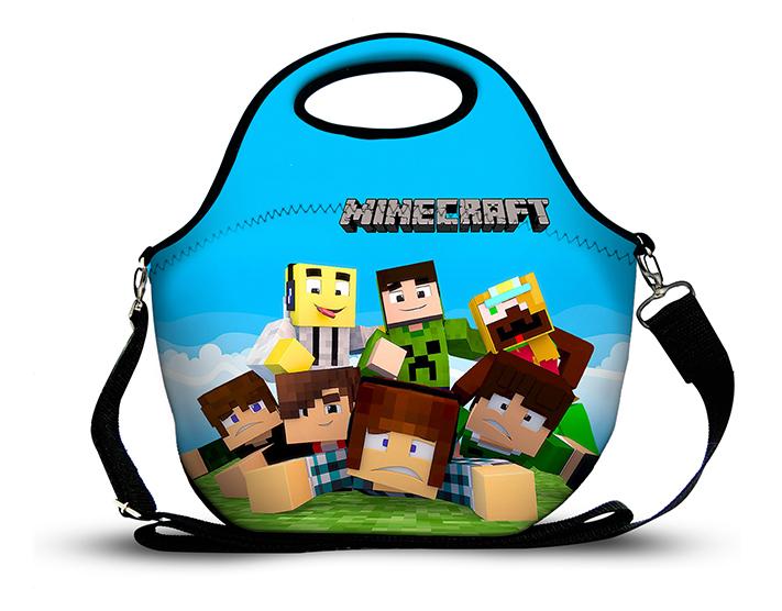 Minecraft - Lancheira em Neoprene