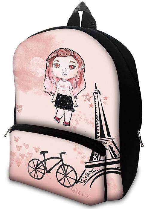Mochila em Neoprene Girl Paris