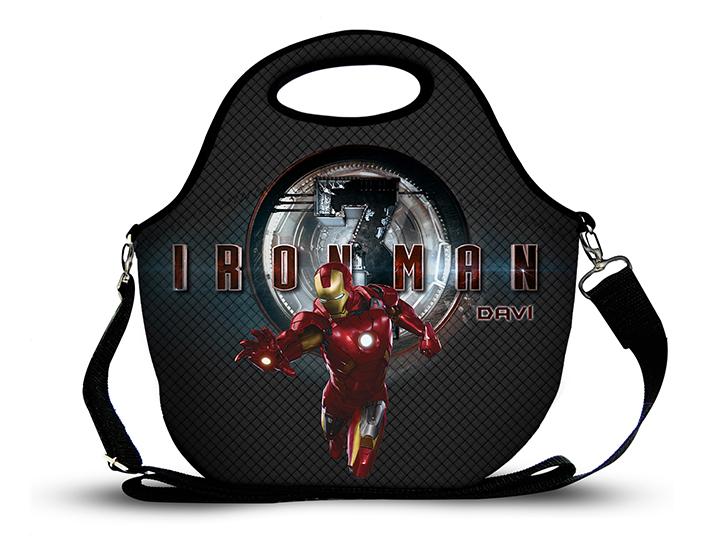 Homem de Ferro 1- Lancheira Neoprene