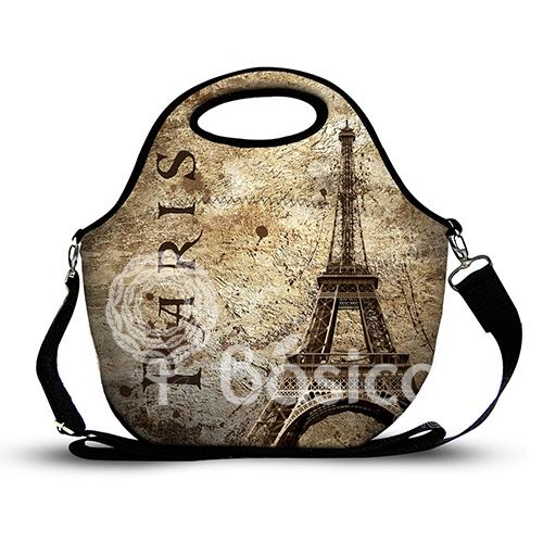 Lancheira Neoprene Vintage Paris