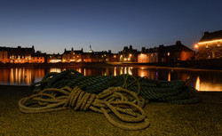 Stonehaven Harbour by Night
