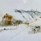 Light from Dark Exhibition 2020 'To Travel Over' Monotype 280mm x 330mm