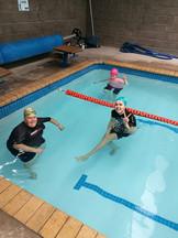 Water aerobics at 'The Grey House'