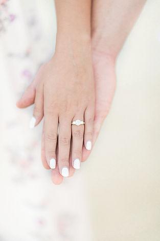 engagement ring portrait detail