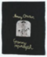 Deborah Moody, Granny Ngweeyal, lino print and embroidered cotton thread on linen, 2016. Photo: Bo Wong