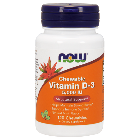 Vitamin D-3 5000IU Chewable