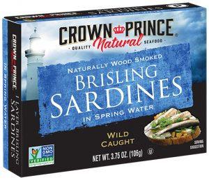 Crown Prince® Wood Smoked Brisling Sardines