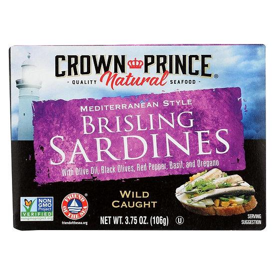 Crown Prince® Mediterranean Style Brisling Sardines