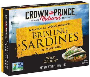 Crown Prince® Smoked Brisling Sardines in Mustard