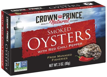 Crown Prince® Smoked Oysters with Red Chili