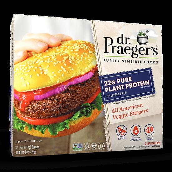 Dr Praeger's® All American Vegan Gluten Free Protein Veggie Burgers