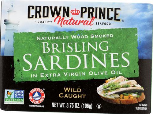 Crown Prince® Smoked Brisling Sardines in EVOO