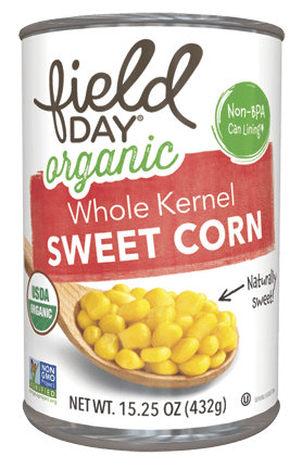 field day® Organic Whole Kernel Sweet Corn