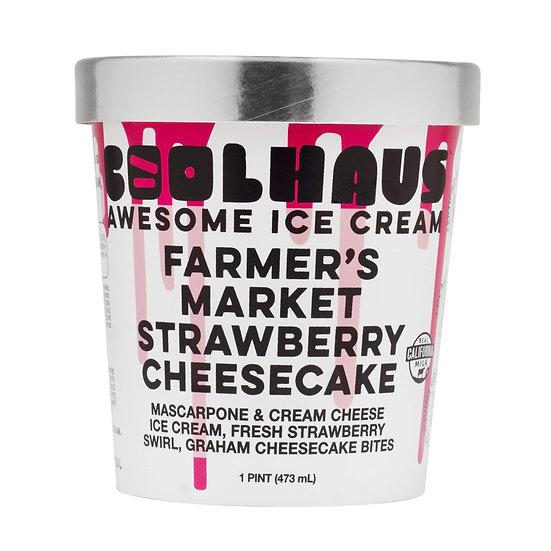 CoolHaus Farmer's Market Strawberry Cheesecake Ice Cream